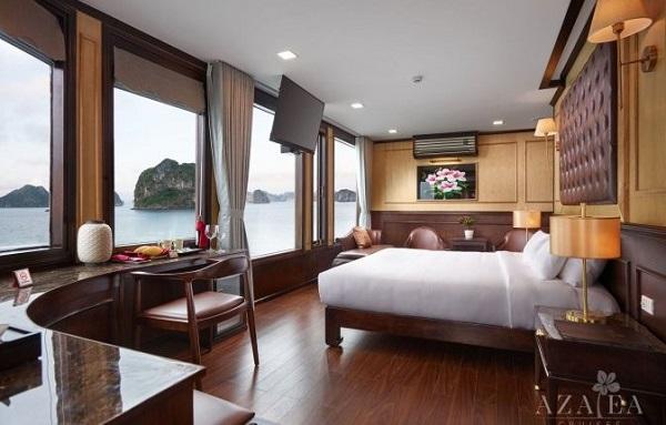 chambre bateau Azalea baie de Lan Ha