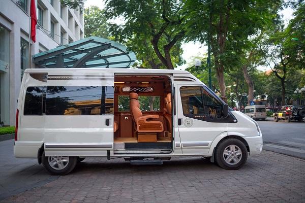minibus navette de luxe hanoi port cat hai